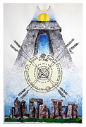 Great Britain Drawings - Stonehenge Circle by Raffaella Di Vaio