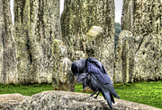 Arthurian Legend Prints - Stonehenge Crow Print by Skye Ryan-Evans