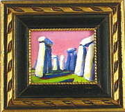 Celts Painting Posters - Stonehenge I Poster by Les Leffingwell