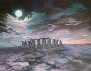 Jean Walker Paintings - Stonehenge in Wiltshire by Jean Walker