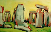 Celts Painting Posters - Stonehenge  Poster by Les Leffingwell