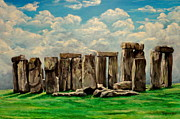 Gaul Paintings - Stonehenge by Sion Shadd