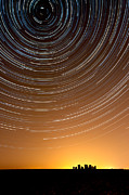 Startrails Posters - Stonehenge Startrails 1 Poster by Sharpimage Net