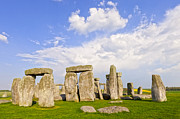 Wiltshire Framed Prints - Stonehenge Stone Circle Wiltshire England Framed Print by Colin and Linda McKie