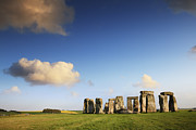 Cloud Framed Prints - Stonehenge Summer Evening Framed Print by Colin and Linda McKie