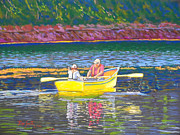 Rowboat Pastels - Stonehurst  Nova Scotia by Rae  Smith PSC