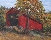 Stonelick Williams Corner Covered Bridge Clermont County Ohio 2 Print by Rita Miller