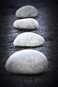 Large Metal Prints - Stones Metal Print by Elena Elisseeva