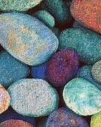 Large Pastels Metal Prints - Stones in Pastel Metal Print by Antonia Citrino