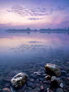 Haze Art - Stones in purple dawn by Davorin Mance