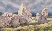 Isolated Painting Prints - Stones of Castlerigg Print by Evangeline Dickson