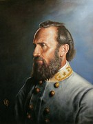 Robert E Lee Paintings - Stonewall Jackson by Glenn Beasley