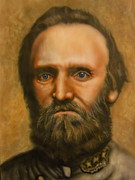 Stonewall Painting Metal Prints - Stonewall Jackson Metal Print by Scott Whitter