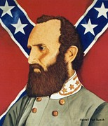 Stonewall Painting Metal Prints - Stonewall Jackson Metal Print by Van Bunch
