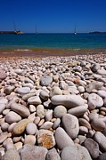 Fire Stones Prints - Stoney Beach Print by FireFlux Studios