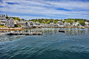 Harbor Dock Prints - Stonington in Maine Print by Olivier Le Queinec