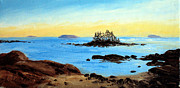 Maine Shore Painting Originals - Stonington Low Tide by Laura Tasheiko