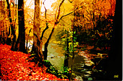 Fall Scenes Digital Art Posters - Stony Bridge Poster by CHAZ Daugherty