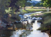 Leipers Fork Painting Prints - Stony Creek Print by Erin Rickelton