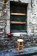 Old Montreal Photos - Stool by John Rizzuto