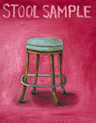 Stool Paintings - Stool Sample by Leah Saulnier The Painting Maniac
