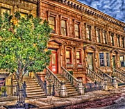 Arnie Goldstein Prints - Stoop Ball Anyone? Print by Arnie Goldstein