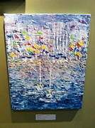 Yellow Sailboats Originals - Stop 37 - SOLD by George Riney