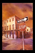 Stop Sign Painting Framed Prints - Stop- French Quarter Ahead Framed Print by Ryan Fox