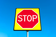 Traffic Control Photo Posters - Stop Sign Poster by Hans Engbers