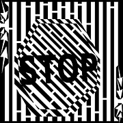 Traffic Drawings Prints - Stop Sign Maze Print by Yonatan Frimer Maze Artist