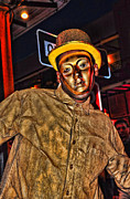 Street Photography Digital Art - Stop Sign Mime on Bourbon Street NOLA by Kathleen K Parker