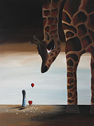 Surreal Landscape Painting Metal Prints - Stop To Love by Shawna Erback Metal Print by Shawna Erback