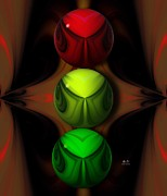 Traffic Control Posters - Stoplight Abstract Poster by Mr Ds Abstract Adventures