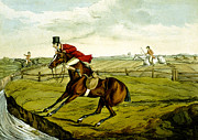 Horse Jumping Paintings - Stopping at Water from Qualified Horses and Unqualified Riders by Henry Thomas Alken
