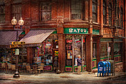 Window Signs Framed Prints - Store - Albany NY -  The Bayou Framed Print by Mike Savad