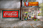 Cobblestone Street Prints - Store Front - Life is Good Print by Mike Savad