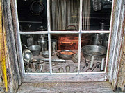 National Historic Landmark District Photos - Store Front Window Virginia City Montana 01 by Thomas Woolworth