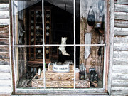 National Historic Landmark District Photos - Store Front Window Virginia City Montana 02 by Thomas Woolworth