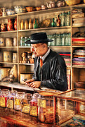 Nostalgic Prints - Store - In the General Store Print by Mike Savad