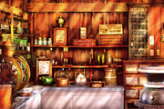 Shelves Photo Prints - Store -  The General Store  Print by Mike Savad