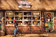 Window Signs Metal Prints - Store -  The Thrift Shop Metal Print by Mike Savad