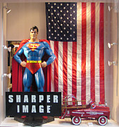 Peddle Car Photos - Store Window with Superman by Alan McCormick