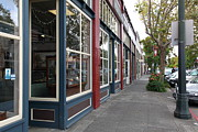 Storefronts In Historic Railroad Square Area Santa Rosa California 5d25856 Print by Wingsdomain Art and Photography