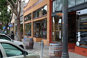 Storefronts In Historic Railroad Square Santa Rosa California 5d25804 Print by Wingsdomain Art and Photography