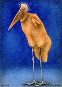 Stork Painting Framed Prints - Stork Naked... Framed Print by Will Bullas