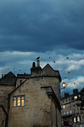Bath England Framed Prints - Storm Above Town Framed Print by Jill Battaglia