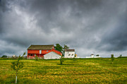 Pa Barns Framed Prints - Storm aBrewin Framed Print by Guy Whiteley