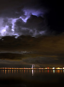 Funnel Clouds Prints - Storm across the Bay Print by David Lee Thompson