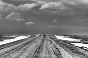 Gravel Road Prints - Storm Ahead Print by M Dale