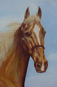 Horse Head Paintings - Storm by Andrea J Disney